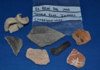 An interesting group of 7 assorted Roman pottery segments from a 1965 Archaeological dig in Cambridgeshire. SOLD